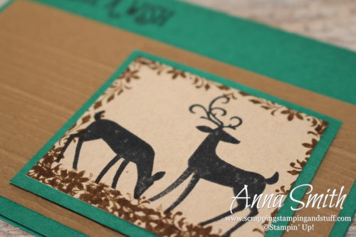 Deer birthday card for a man using the Stampin' Up! Dashing Deer and Happy Birthday Gorgeous stamp sets