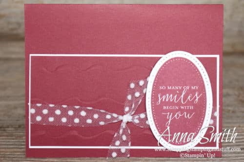 Stampin' Up! card idea for a just because card - made with the Detailed with Love stamp set - Annual Catalog 2018