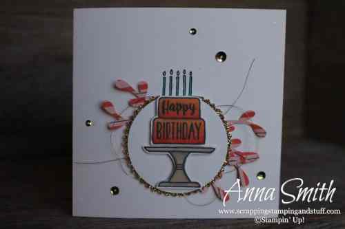 2019 Occasions Catalog Sneak Peek!! Stampin' Up! Piece of Cake birthday card idea