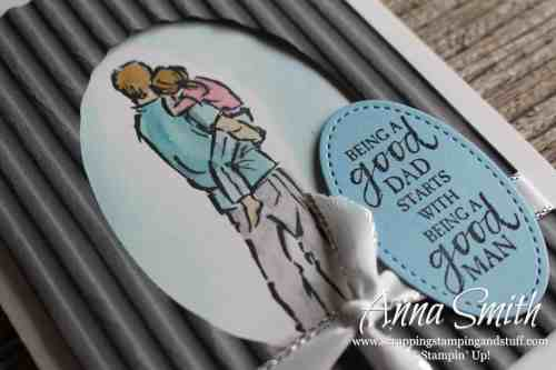 Stampin' Up! A Good Man Stamp Set Father's Day Card Idea