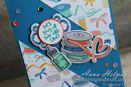 Cute card idea made with the Stampin' Up! It Starts With Art stamp set and Arts & Crafts Dies