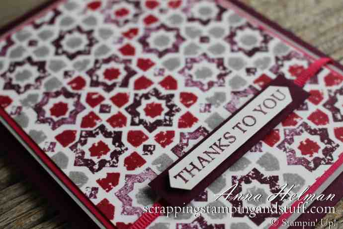 Quilt Card Idea Made With The Stampin' Up! Verdant Garden Stamp Set