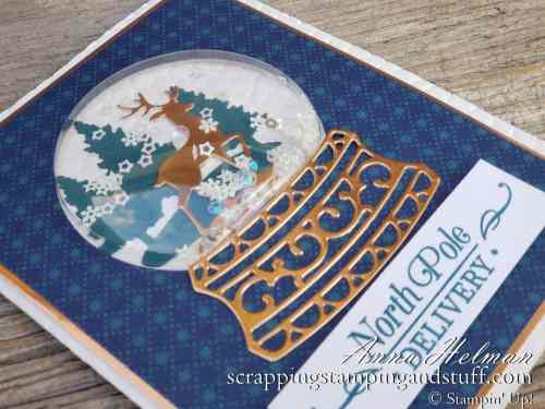 2019 Holiday Catalog Sneak Peeks Beautiful Stampin Up Snow Globe Christmas Card Idea with Photo Tutorial