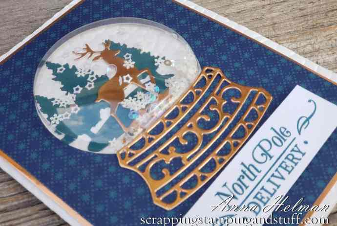 2019 Holiday Catalog Sneak Peeks Beautiful Stampin Up Snow Globe Scenes Christmas Card Idea with Photo Tutorial
