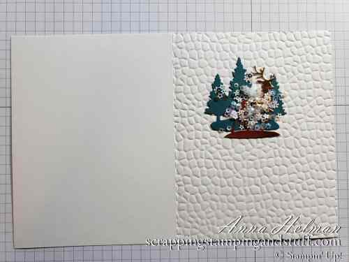 Stampin Up Snow Globe Christmas Card Idea with Tutorial