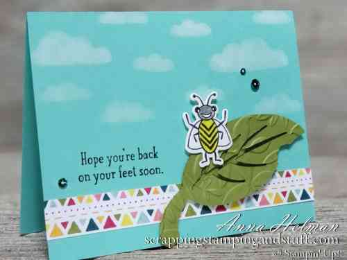 Stampin Up Giveaway Week Starts Tomorrow and a Wiggly Bugs Card