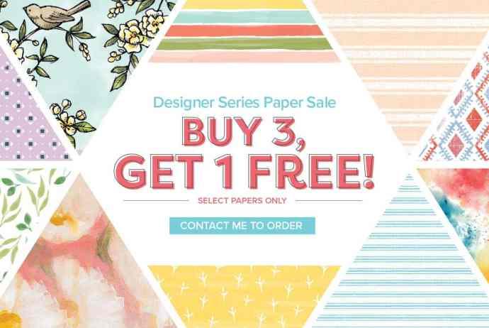 Stampin Up Designer Paper Sale