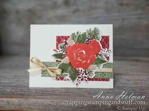 Stampin Up Christmastime Is Here special product release for a limited time only! Beautiful roses and greenery for lovely winter and Christmas cards.