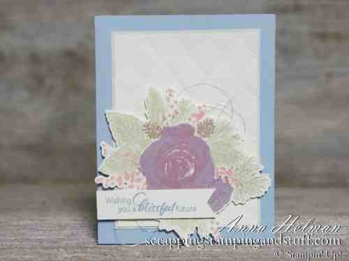 Special product release Christmastime Is Here and the Stampin Up Christmas Rose stamp set! Used here for a lovely winter wedding card idea.