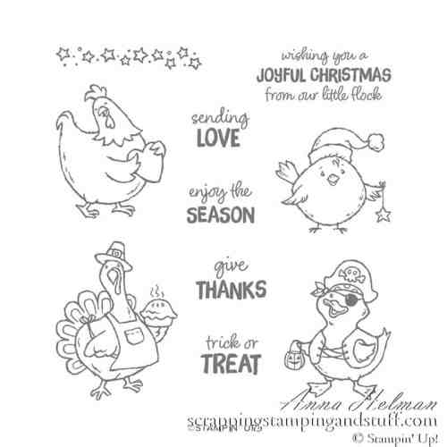 Stampin Up Birds of a Feather Chicken Stamp Set