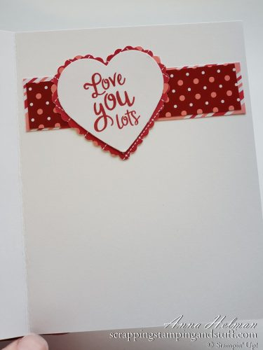 Handmade Valentine's Day Card - Stampin Up Heartfelt Card Idea Using the From My Heart Suite of Products