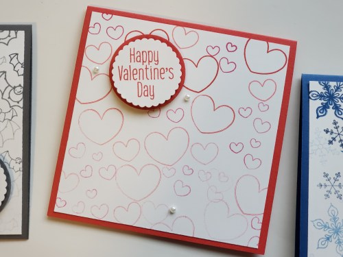 Make cards for every season with the Stampin Up To Every Season stamp set! Includes stamps for fall, winter, Valentine's Day, and Halloween! Great for quick and easy cards!