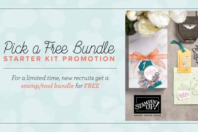 Stampin Up Pick A Free Bundle Starter Kit Promotion