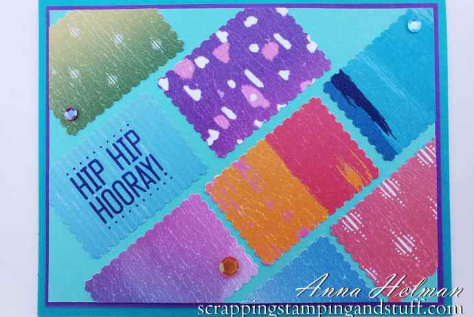 See How To Make This Quick Birthday Card Using the Stampin Up Rectangular Postage Stamp Punch And Celebration Of Tags Stamp Set