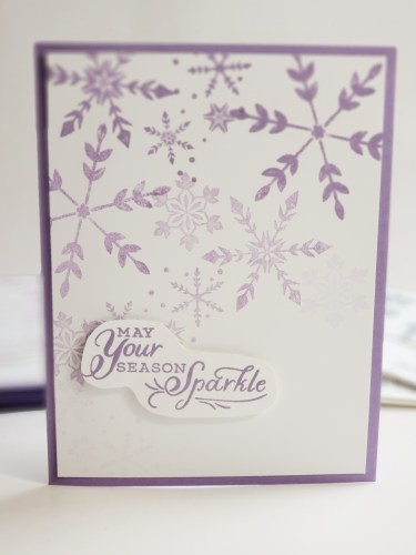 10 Cards In 30 Minutes with Stampin Up Snowflake Wishes - Simple Stamping Christmas Cards