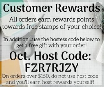 Stampin Up Hostess Rewards Customer Loyalty Free Gift With Order
