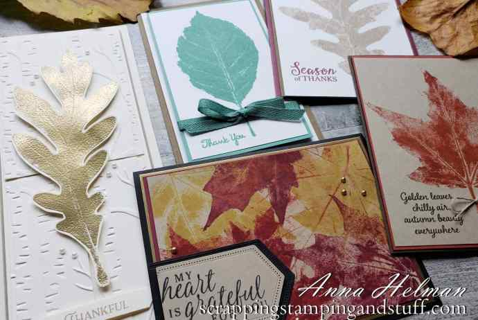 Leaf stamping is an amazing way to make beautiful fall cards using real leaves, ink, and an embossing machine!