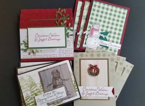 Stampin Up Holiday Virtual Stamping Retreat - Christmas Cards, Fun Folds, and a Christmas Sampler In The Mail!