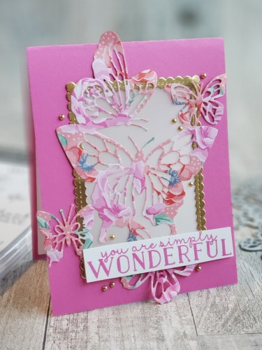 This gorgeous lantern card is easy to create, and makes a lovely gift which the recipient can display in their home all year long!