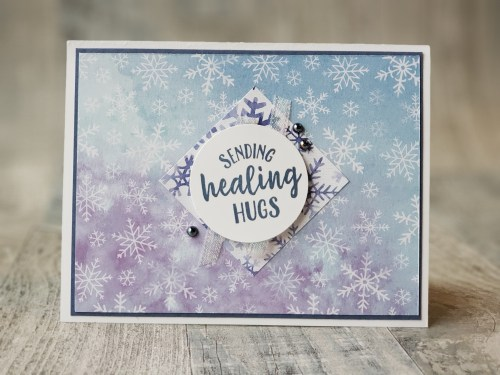 These pretty cards can be made quickly and easily using just pretty designer papers and embellishments!