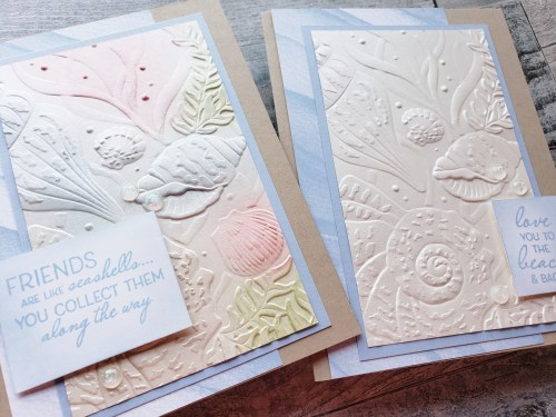 The Stampin Up Sand & Sea product suite makes gorgeous beach, ocean, seashell, and coastal projects!