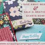 Get entered to win Stampin Up Designer Series Paper or get it free right now with your product order during Sale-a-bration and giveaway week!