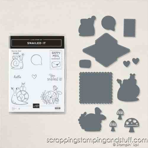 Stampin Up Snailed It Stamp Set and Snail Dies