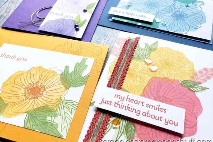 Reversibles stamps allow you to stamp detail and fill in with one single stamp! See how they work with the Stampin Up Back To Back Blooms set.