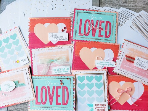 Make quick and adorable Valentine's cards using this Sweet Little Valentine's Cards & More kit! You'll have 10 cute cards in minutes!