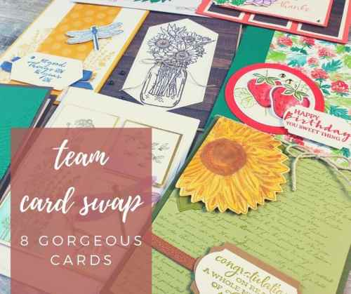 Take a look at these eight beautiful handmade cards from my team card swap.