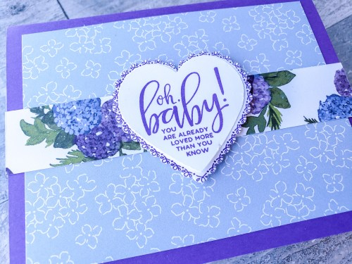 Make lots of beautiful cards quickly with this simple card recipe and the Stampin Up Punch Party stamp set!