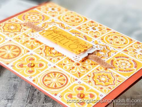 Stampin Up Today's Tiles is perfect for creating stunning background stamping!