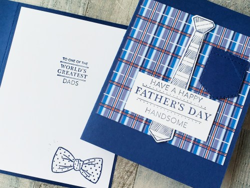 The Stampin Up Handsomely Suited stamp set and dies make adorable men's shirt, suit, and uniform cards!