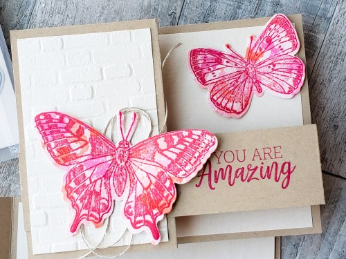 This shimmering double Z fun fold butterfly card is the perfect card to send to your loved ones! And it's fun to make!