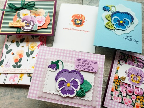 Click here to see the Stampin Up Pansy Patch bundle, and see exactly how to use the stamps and dies. You're going to love this set!