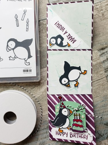 Make this adorable Mini Twist Fun Fold card design today, and bring a smile to someone's face! It's so cute and fun to open!