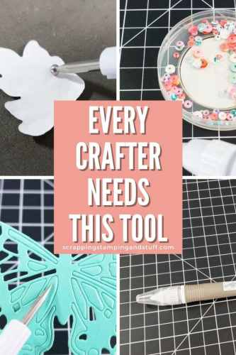 Every crafter needs the Stampin Up Take Your Pick Tool - the Swiss army knife of crafting! Use it for almost everything!