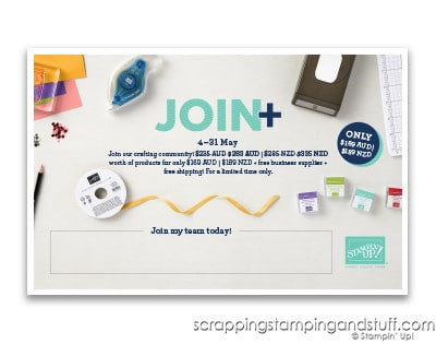 Sign Up With Stampin Up During The Join+ Sign Up Special