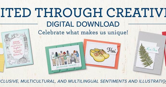 Celebrate World Diversity Day with Stampin Up's United Through Creativity campaign. Download tons of multicultural images and greetings here!
