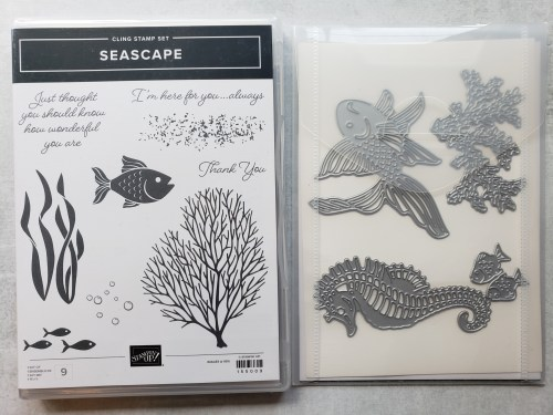 This spinner shaker card is so much fun! Made with Stampin Up's Seascape Bundle, turn the wheel to see the fish swim. Make it today!