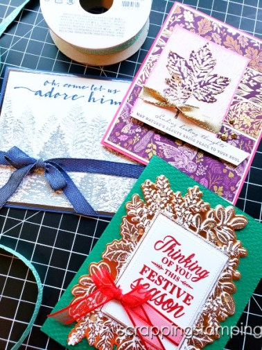Try this bow tying hack today and save that precious ribbon! Use an acrylic block and this easy trick to stretch your paper crafting budget farther.