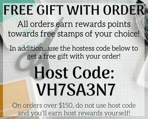 Stampin Up Host Code - Free Gift With Order - Customer Rewards Program