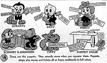 Scrappy puppet ad