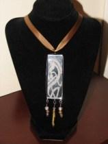 Celtic Horse Etched Slide Necklace