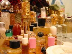 Mom's Perfume Bottles, by Nancy JonesFrancis