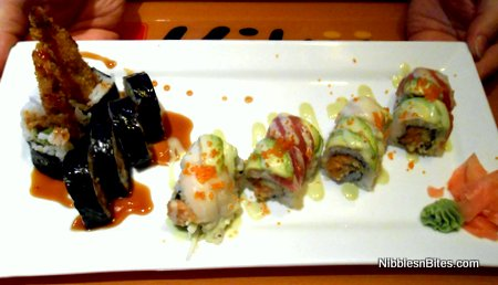 Spider Roll and Candy Bar Maki from Kiku Japanese Fusion, Tallahassee, FL