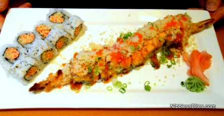 Crabmeat Spicy Roll and Fire Dragon Maki from Kiku Japanese Fusion, Tallahassee, Florida