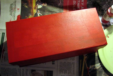 Box painted red