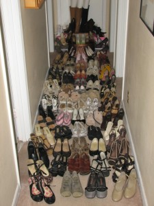 Have you ever wondered how much room your shoe collection spans?