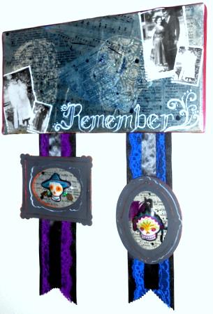 Dia de los Muertos Memorial Canvas